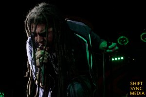 Elias Soriano lead singer and Front-man to Nonpoint on stage of the Ace of spades venue in Sacramento, Ca